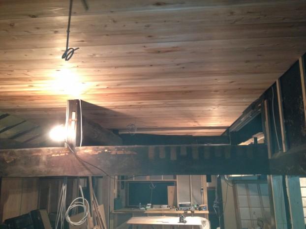 天井施工後
