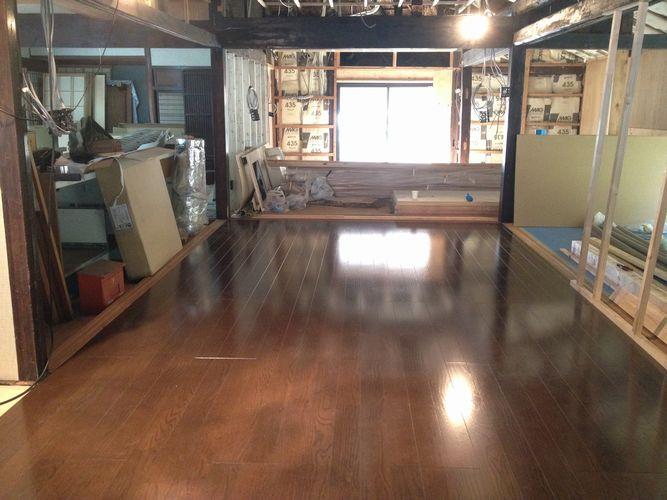 床暖房の施工完了