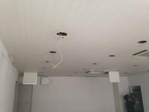 天井のダウンライト取り外し
